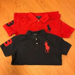 Bundle Deal 7 Ralph Lauren Polo Shirts Sz M 10-12